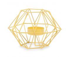 Candelabro de metal amarillo Al. 9cm UPBLOWN YELLOW
