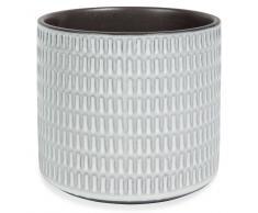 Macetero de gres blanco Al. 13 cm CELA