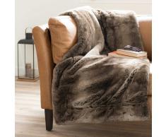 Manta de imitación de piel marrón 150 x 180cm SHEFFORD