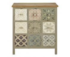 Mueble cajonera de madera gris claro An. 75 cm Leopoldine