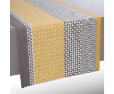 Camino de mesa de algodón amarillo/gris An. 150 cm SUNNY