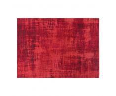 Alfombra roja con motivos jacquard 140x200