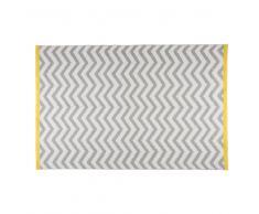 Alfombra con motivos de espiguillas grises y blancas 160x230 cm WAVE