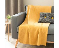 Manta suave amarillo mostaza 150 x 230 cm CHALEUR
