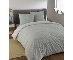 Juego de cama 220 × 240cm de algodón azul KIMONO