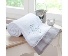 Toalla de ducha blanca de algodón 100 × 150 cm BAIN