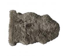 Alfombra beis de piel de oveja 55 × 90cm