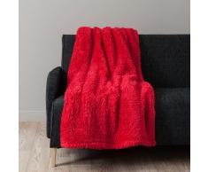 Manta de imitación de piel roja 150 x 200cm CALIN