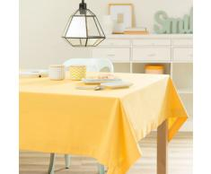 Mantel liso de algodón amarillo mostaza 150 x 250cm
