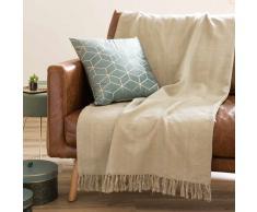 Colcha de algodón beige 130x170