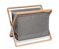 Revistero de bambú y tela gris ALEJANDRO