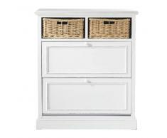 Mueble zapatero blanco An. 80 cm Cottage