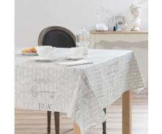 Mantel engomado de lino gris 140 x 250cm MANUFACTURE ROYAL