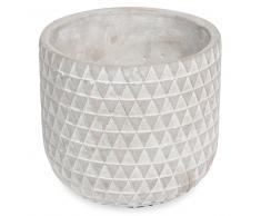 Macetero de cemento con motivos MULTI-TRIANGLES