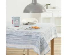 Mantel de algodón azul 170 x 310 cm FJORD