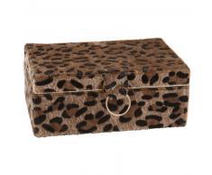 Joyero con estampado de leopardo