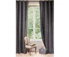 Cortina de terciopelo gris antracita 140 x 300 cm