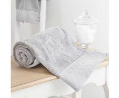 Toalla de ducha gris de algodón 70 × 140cm HÔTEL