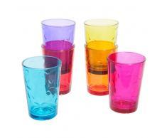 6 vasos de cristal multicolor KELEBECK