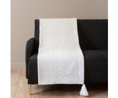Colcha de algodón blanco 180 x 240 cm MYKONOS
