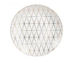 Plato de postre de porcelana blanca D 20 cm OPALE