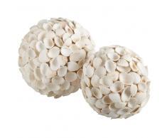 2 Bolas decorativas de caracolas DESIRADE
