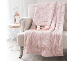 Colcha de imitación de piel rosa 130 x 170 cm ALLYSON
