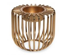 Candelabro de metal dorado H. 7 cm SOLO
