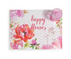 Mantel individual de plástico 31 x 41 cm HAPPY FLOWER