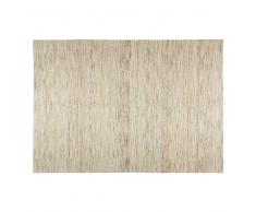 Alfombra de yute y algodón beige 140x200 cm NIORAL