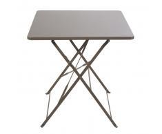 Mesa de jardín plegable de metal marrón para 2 personas L.70 Guinguette