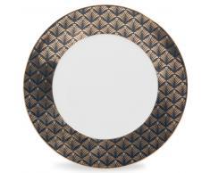 Plato llano de porcelana negra D 27 cm MILORD