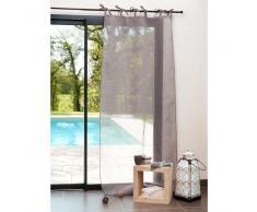 Cortina de nudos de lino gris 105 x 300 cm