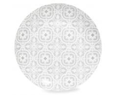 Plato llano de porcelana gris CHAMBORD