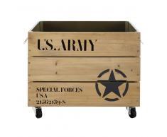 Caja de madera con ruedas 35 x 52 ARMY