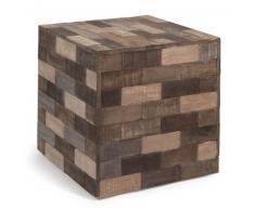 Mesa auxiliar cubo de madera de colores An. 41 cm PRAJA