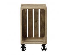 Caja de madera de mango con ruedas 32 × 56cm ARMEL