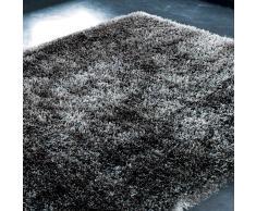 Alfombra de pelo largo gris antracita 140 x 200 cm POLAIRE