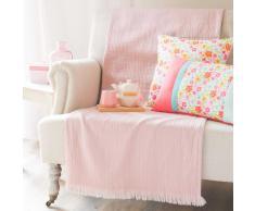 Colcha de algodón rosa 130 x 170cm LOUISE