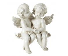 Figura decorativa de resina blanca Al. 32 cm ANGELOTS