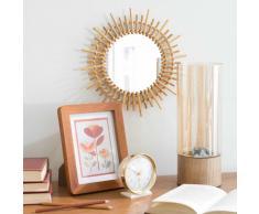 Espejo redondo de bambú D 30 cm MARAPONG