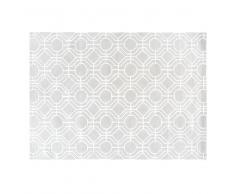 Alfombra gris con motivos gráficos 160x230