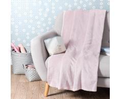 Manta rosa 150 x 230 cm CHANTILLY