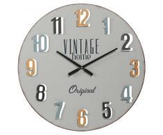 Reloj de metal D 60 cm VINTAGE HOME