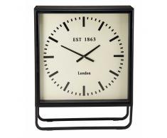 Reloj de sobremesa de metal negro BILLY