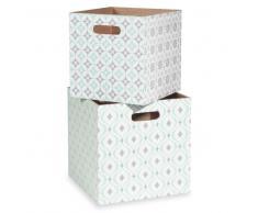 2 cajas con motivos de azulejos de cemento PAVIE