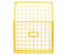 Revistero de pared amarillo mostaza LEMON