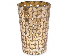 Jarrón mosaico de cristal ámbar Alt. 18 cm FLOWER