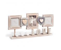 Marco de fotos de mesa de madera 23 x 50cm CLÉ DES CHAMPS