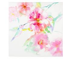 Lienzo rosa 80×80 cm COLIBRI